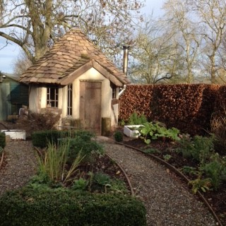 Bothy in the flower garden, Tenbury Wells Worcestershire